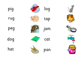 cvc words list with pictures pdf
