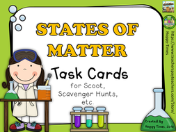 STATES OF MATTER Activity  Task Cards