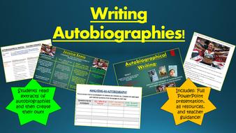writing autobiographies by tandlguru teaching resources tes