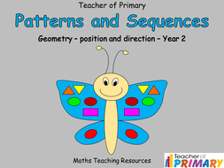 patterns and sequences year 2 geometry powerpoint and worksheets