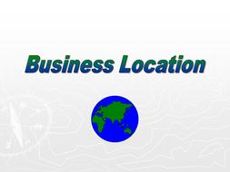 GCSE Business - Business Location.