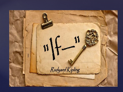 'IF' by Rudyard Kipling - PPT