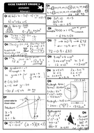 GCSE 9-1 Maths Revision Pack With Solutions- Target Grade