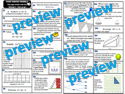 GCSE 9-1 Maths Revision Pack With Solutions- Target Grade 5
