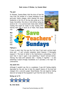 Book Review Comprehension Lesson Plan and Worksheets