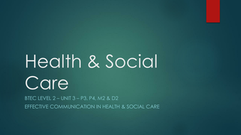 health and social care unit 11 11/cm3 assess the impact of the use of psychological perspectives in local health and social care settings, in enabling professionals to enhance the social functioning of selected service users.