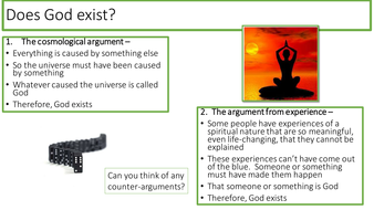 KS3 RE Meaning and Purpose - Lesson 2 - Does God exist?