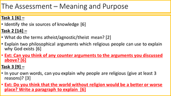 Ks3 Re Meaning And Purpose Lesson 8 The Assessment Teaching Resources Here you find 168 meanings of the word assessment. tes
