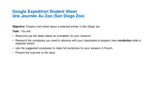 Google-Expeditions-Une-Journe-e-Au-Zoo-Student-Sheet.pptx