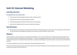 Unit-12---Internet-Marketing---Delivery-Plan-and-Scheme-of-Work.doc