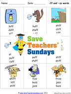 Ff and Zz Phonics Worksheets, Activities, Flash Cards and Other ...