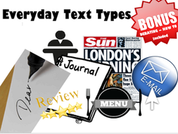 Everyday Text Types - How to (ALL) - SAVE 50%