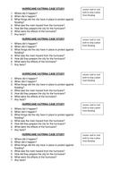 Hurricane Katrina worksheet