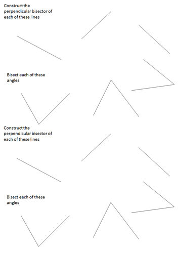 Printables Perpendicular Bisector Worksheet constructions of triangles perpendicular bisector and angle by lizzyld teaching resources tes