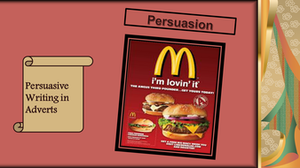 Year 7 Persuasive Writing and Language in Adverts ...