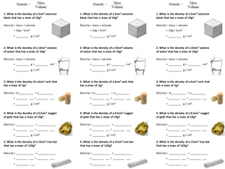 Density of solids and liquids worksheet by alexpce - Teaching ...