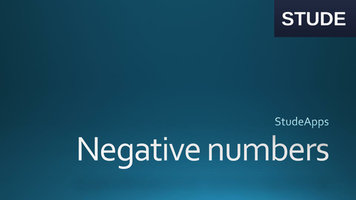 Negative numbers: practical application