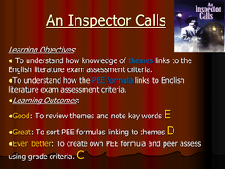 An Inspector Calls: revision of themes and social and historical context