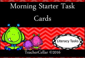Morning Task Cards