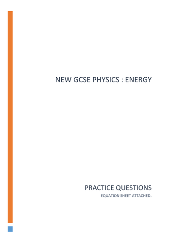 New Gcse Physics : Energy practice questions