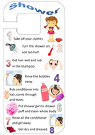 How To Take A Shower Hanging Instructions Teaching Resources