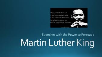 Persuasive speeches Martin Luther King/Barack Obama