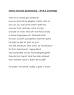 next to of course god america i poem