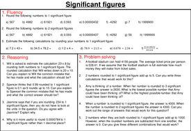 Rounding to significant figures - mastery worksheet by joybooth ...