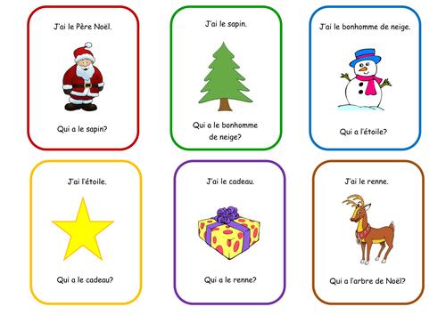 FRENCH - CHRISTMAS - PARLONS DE NOËL - J'ai... ~  Qui a...? - Game