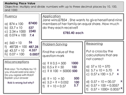 mastery maths  place value  multiplying and dividing by     masteringplacevalueanswerspptx