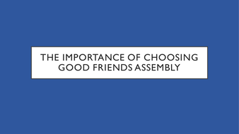 the importance of good friends