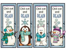 8 CHRISTMAS Bookmarks ( prizes, rewards, reading)