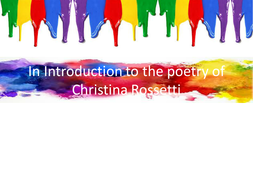 In Introduction to the poetry of Christina Rossetti