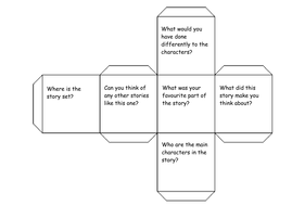 3 dimensional cube template - story cube template by karendunton teaching resources tes