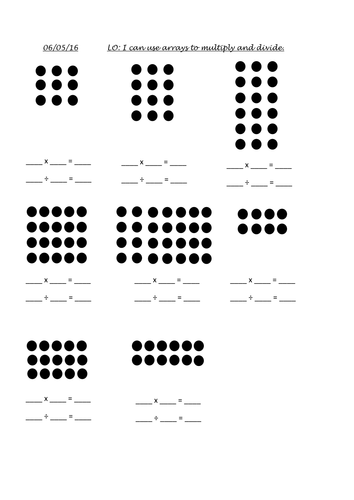 Multiplication Arrays Activities by jl_clarke_2008
