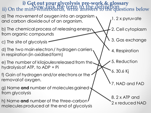 AQA A-level Biology (2016 specification). Section 5 Topic 14: Respiration - glycolysis