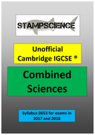 2017-2018 0653 Cambridge IGCSE Combined Sciences Revision Guide