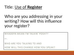 Register - formal and informal register