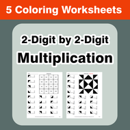 2-Digit by 2-Digit Multiplication - Coloring Worksheets ...