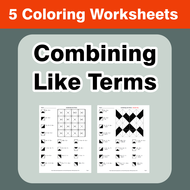 Combining Like Terms - Coloring Worksheets by bios444 - Teaching ...
