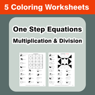 One Step Equations: Multiplication & Division - Coloring ...