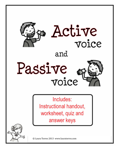 Worksheets Active And Passive Voice Worksheets With Answers Pdf active and passive voice worksheets quiz keys by tesactivepassiveworksheet pdf