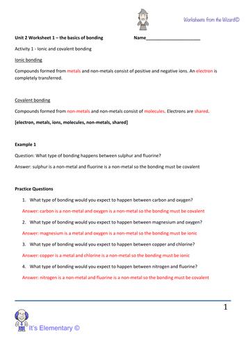 AQA GCSE 2016 unit 2 - ionic and covalent bonding lesson ...