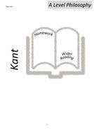 OCR Religious Ethics- A Level- Kantian Ethics Homework Booklet