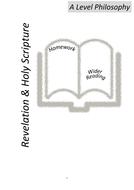OCR A Level Philosophy- Revelation & Holy Scripture Homework Booklet