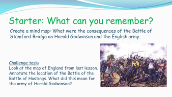 Edexcel GCSE History (9-1) The Normans: Causes and consequences of Battle of Hastings
