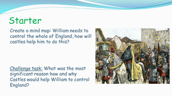 Edexcel GCSE History (9-1) The Normans: Castles: Reasons for, features and significance