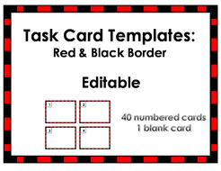 Task Card Templates In Various Colors By WindupTeacher Teaching - Task card template