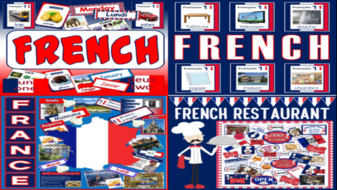 *FRENCH LANGUAGE / FRANCE BUNDLE* FRENCH LANGUAGE RESOURCES, DISPLAY, FLASHCARDS, POSTERS, FRANCE, CULTURE, DIVERSITY, EUROPE, GEOGRAPHY - KEY STAGE 1-4, RESTAURANT ROLE PLAY