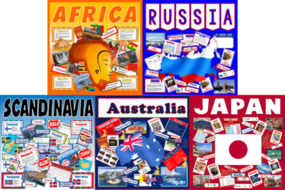 *GEOGRAPHY BUNDLE* FRICA, RUSSIA, SCANDINAVIA, AUSTRALIA, JAPAN, COUNTRIES, CONTINENTS, LOCATIONAL  KNOWLEDGE, KEY STAGE 2-3, CULTURE, EUROPE, WORLD, DIVERSITY, LANGUAGE, MAPS, FLAGS, ACTIVITIES
